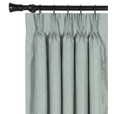 Iris Silk Three Finger Silk Pleated Single Curtain Panel
