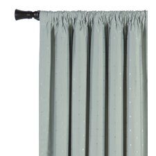 Iris Silk Rod Pocket Single Curtain Panel