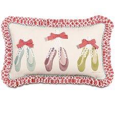 Matilda Ballet Shoes Hand-Painted Lumbar Pillow