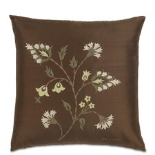 Michon Hand-Painted Serico Silk Throw Pillow