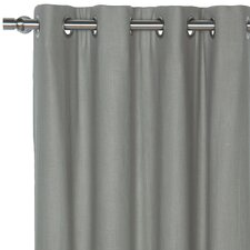 Breeze Pure Linen Cotton Grommet Single Curtain Panel