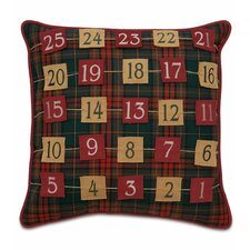 Home for The Holidays Advent Calendar Throw Pillow