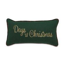 Home for The Holidays Days Til Christmas Lumbar Pillow