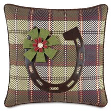 Jingle Bell Rock Holiday Horseshoe Throw Pillow