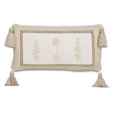 Brookfield Hand-Painted Topiary Lumbar Pillow