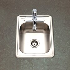 "Hospitality 22"" x 17"" Topmount 22 Gauge Large Bar Sink"