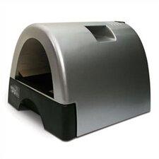 Designer Cat Litter Box with Metallic Cover