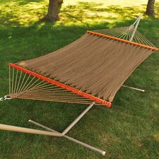 Tight Weave Soft Tan Polyester Rope Hammock
