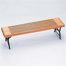 Traditional Wood and Metal Picnic Bench