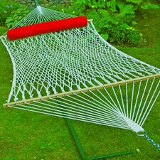 Cotton Rope Hammock with Hanging Hardware and Bolster Pillow