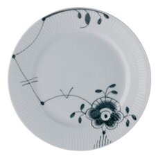 "Black Fluted Mega 10.75"" Dinner Plate"