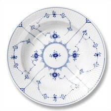 "Blue Fluted Plain 9"" Soup Plate"