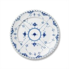 """Blue Fluted Full Lace 6.75"""" Bread and Butter Plate"""