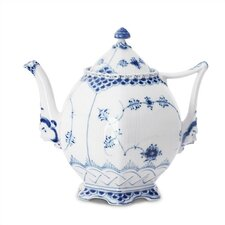Blue Fluted Full Lace 1.06-qt. Teapot
