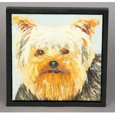 Yorkie Framed Original Painting