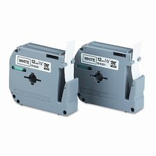 M2312PK P-Touch Tape Cartridge for P-Touch Labelers, 2/Pack
