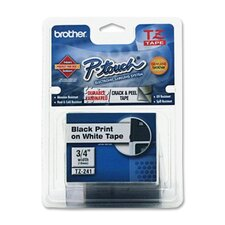 TZES241 P-Touch Extra-Strength Adhesive Laminated Labeling Tape, 3/4W