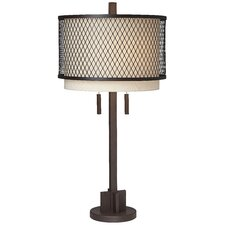 "PCL Mesh 32.25"" H Table Lamp with Drum Shade"