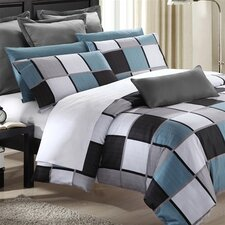 Coastal Squares Duvet Cover Set