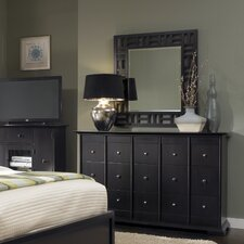 Perspectives 15 Drawer Dresser with Mirror