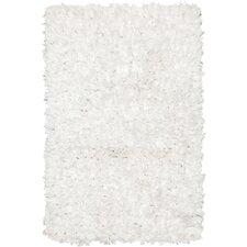 Paper Shag White Area Rug