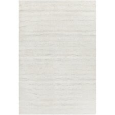 Angelo Textured Solid White Area Rug