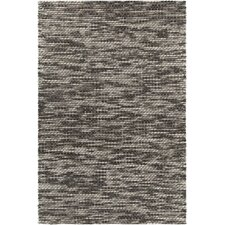 Argos Textured Contemporary Wool Cream/Dark Gray Area Rug