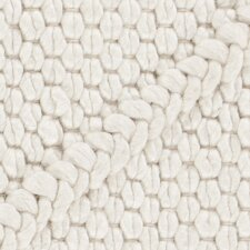 Sujan Textured Contemporary White Area Rug