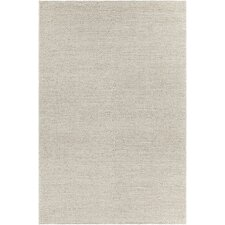 Sinatra Textured Contemporary Wool Cream Area Rug