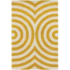 Thomaspaul Patterned Designer Yellow & Cream Area Rug