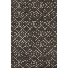 Stella Patterned Contemporary Wool Charcoal/Cream Area Rug