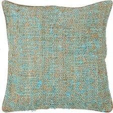 Textured Contemporary Silk Throw Pillow