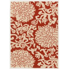 Thomaspaul Patterned Red/Cream Indoor/Outdoor Area Rug