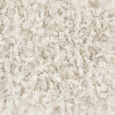 Bolero Textured Contemporary Shag White Area Rug