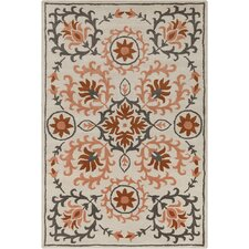 Allie Hand Tufted Wool Peach/Cream Area Rug