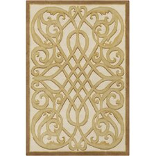 Allie Hand Tufted Wool Cream/Gold Area Rug