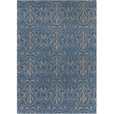 Int Hand Tufted Rectangle Contemporary Blue/Gray Area Rug