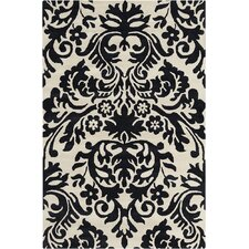 Allie Hand Tufted Wool Black/Cream Area Rug