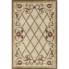 Allie Hand Tufted Wool Cream/Olive Green Area Rug