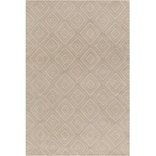 Allie Hand Tufted Wool Gray/Cream Area Rug