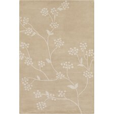 Allie Hand Tufted Wool Beige/Cream Area Rug