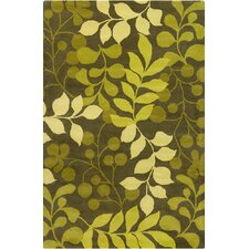 Allie Hand Tufted Wool Ovile Green/Lime Green Area Rug