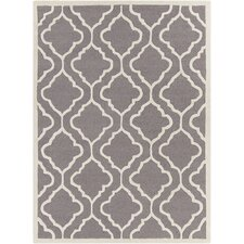 Davin Hand Tufted Rectangle Contemporary Gray/Cream Area Rug