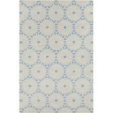 Allie Hand Tufted Wool Cream/Blue Area Rug