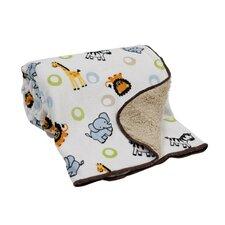 Jungle Buddies Velour/Sherpa Blanket