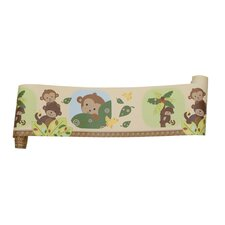 Curly Tails 15' x 6'' Wildlife Border Wallpaper