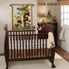 Curly Tails 3 Piece Crib Bedding Set