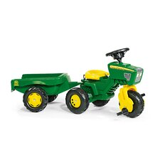 John Deere 3 Wheel Pedal Tractor with Trailer