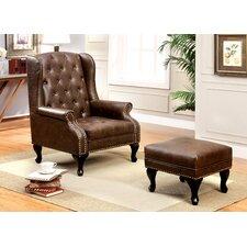 Barnett Wingback Chair and Ottoman