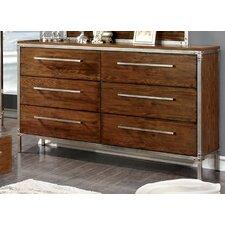 Bilsen 6 Drawer Dresser with Mirror